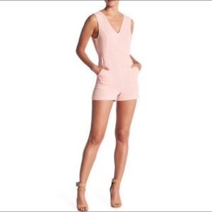 NWT BCBGeneration Pink Open Tie Back Romper